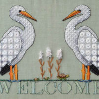 Stork Welcome Cross Stitch Pattern by MarNic Designs