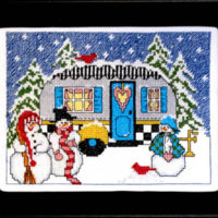 Winter Camper Cross Stitch Pattern by Bobbie G Designs