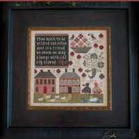 In Friendship Cross Stitch Pattern by Plum Street Samplers