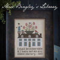 Miss Bingley's Library Cross Stitch Pattern by Plum Street Samplers