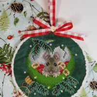 At Home For Christmas Cross Stitch Pattern by Blackberry Lane Designs