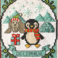 Year Of Animal Fun & Frolics December Cross Stitch Pattern by Tiny Modernist