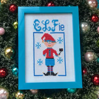 Elfie Cross Stitch Patterns by Pickle Barrel Designs