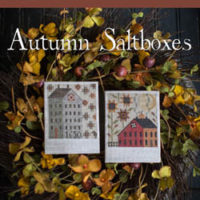 Autumn Saltboxes Cross Stitch Pattern by Plum Street Samplers