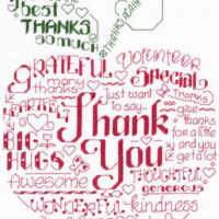 Let's Thank Someone Cross Stitch Pattern by Imaginating