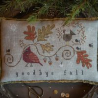 Goodbye Fall Cross Stitch Pattern by Plum Street Samplers