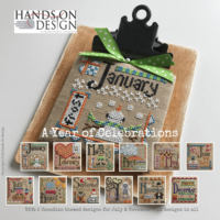 A Year of Celebrations Cross Stitch Pattern by Hands on Designs