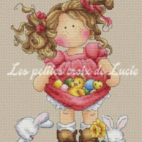 Happy Easter Cross Stitch Pattern by Les Petites Croix De Lucie