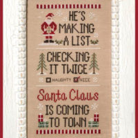 Santa's List Cross Stitch Pattern by Country Cottage Needleworks