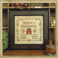 Home of a Needleworker Squared (with threads) by Little House Needleworks