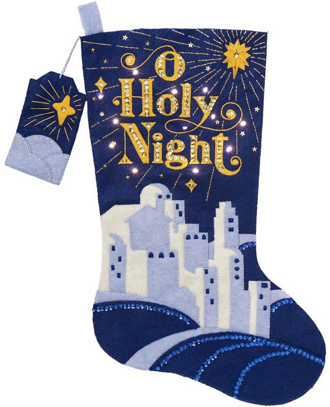O Holy Night Bucilla Christmas Stocking