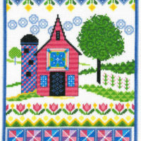 Barn With Spring Quilts Cross Stitch Pattern by Imaginating
