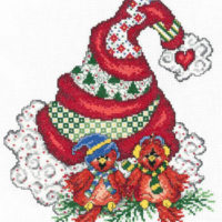 Holiday Tweet Hearts Cross Stitch Pattern by Imaginating