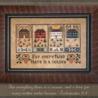 Four Seasons Cross Stitch Pattern Little House Needleworks