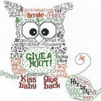 Let's Give a Hoot Cross Stitch Pattern by Imaginating