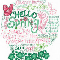Let's Bloom Cross Stitch Pattern by Imaginating