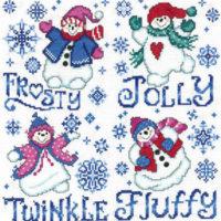 Frosty Friends Cross Stitch Pattern by Imaginating
