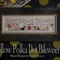 Yellow Polka Dot Bikweenie Cross Stitch Pattern ~ Plum Street Sampler