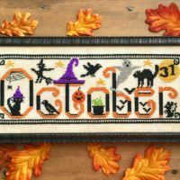 Spooky October Cross Stitch Pattern by Luminous Fiber Arts