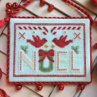 Cardinal Noel Cross Stitch Pattern by Luminous Fiber Arts