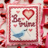 Bluebird's Message Cross Stitch Pattern by Luminous Fiber Arts