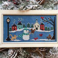 Snow Many Friends Cross Stitch Pattern by Luminous Fiber Arts