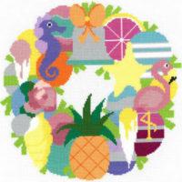 Summer Wreath Cross Stitch Pattern by Imaginating