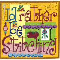 I'd Rather Be Stitching Cross Stitch Pattern by Imaginating