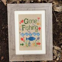 Gone Fishing Cross Stitch Pattern by Pickle Barrel Designs