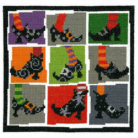 Halloween Shoes Cross Stitch Pattern by Imaginating