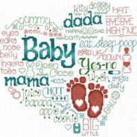 Let's Baby Talk Cross Stitch Pattern by Imaginating
