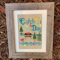 Catch of the Day Cross Stitch Pattern by Pickle Barrel Designs