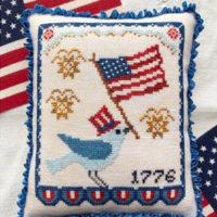Bluebird's Salute Cross Stitch Pattern by Luminous Fiber Arts