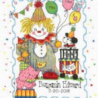 Circus Birth Record Cross Stitch Pattern by Imaginating