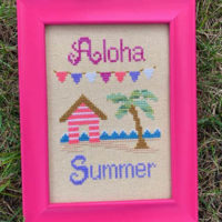 Aloha Cross Stitch Pattern by Pickle Barrel Designs