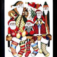 Santa Collection Cross Stitch Pattern Bobbie G Designs