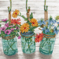 Flowering Jars Counted Cross Stitch Kit by Dimensions