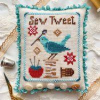 Sew Tweet Cross Stitch Pattern by Luminous Fiber Arts
