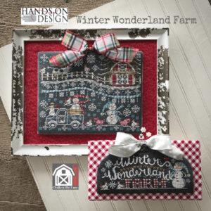 Winter Wonderland Farm Chalk Cross Stitch Pattern by Hands On Designs