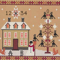 Winter Crows Cross Stitch Pattern by Twin Peaks Primitives