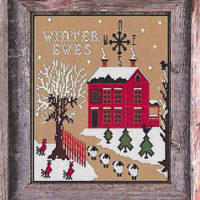 Winter Ewes Cross Stitch Pattern by Twin Peaks Primitives