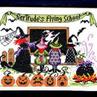 Gertrude's Flying School Cross Stitch Pattern by Bobbie G Designs