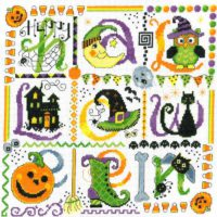 Tic Tac Halloween Cross Stitch Kit by Imaginating