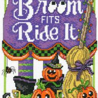 Ride The Broom Cross Stitch Kit by Imaginating