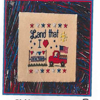 Land That I Love Cross Stitch Pattern by Pickle Barrel Designs