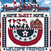 USA Home Sweet Home Cross Stitch Pattern by Stoney Creek Collection