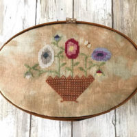 Summer Flowers Shaker Box Top Cross Stitch Pattern by Lucy Beam Designs