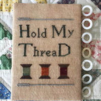 Hold My Thread Cross Stitch Pattern by Lucy Beam