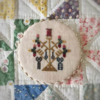 Sewing Round Cross Stitch Pattern by Lucy Beam Designs