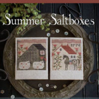 Summer Saltboxes Cross Stitch Pattern by Little House Needleworks